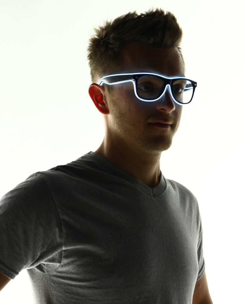 Light Up Glasses - Electric Styles | World's Number 1 Light Up Shoe Store - {product_type}} - White - 13