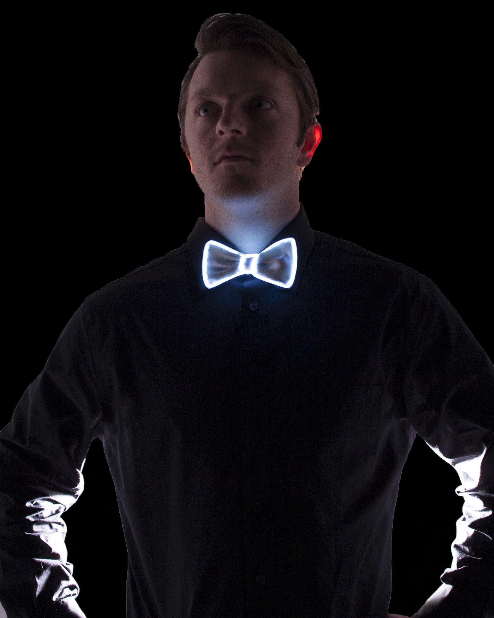 White Light Up Bow Tie - Electric Styles | World's Number 1 Light Up Shoe Store - {product_type}} - White - 6