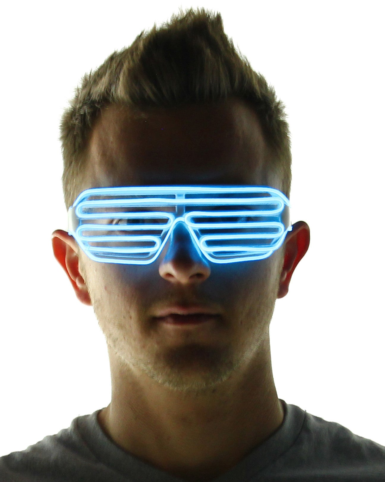 Light Up Shutter Glasses - Electric Styles | World's Number 1 Light Up Shoe Store - {product_type}} - White - 8
