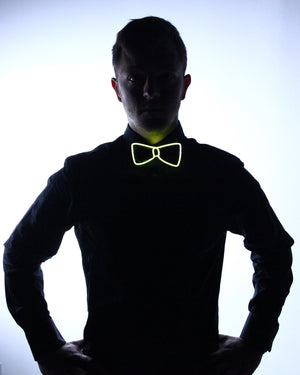 Black Light Up Bow Tie - Electric Styles | World's Number 1 Light Up Shoe Store - {product_type}} - Yellow - 2