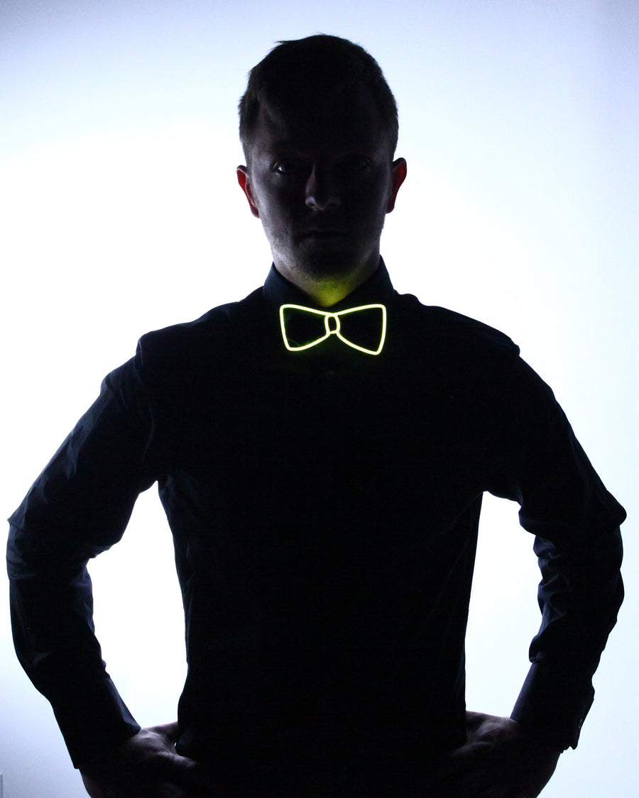 Black Light Up Bow Tie - Electric Styles | World's Number 1 Light Up Shoe Store - {product_type}} -  - 1