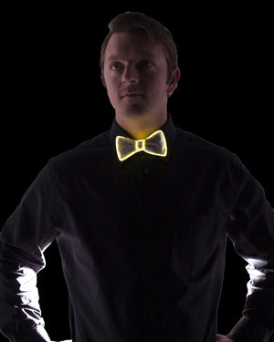White Light Up Bow Tie - Electric Styles | World's Number 1 Light Up Shoe Store - {product_type}} - Yellow - 2