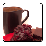 Black Forrest Flavored Coffee; chocolate and cherry flavors.