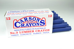 Carsons Lumber Crayons Blue