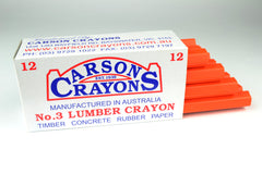 Carsons Lumber Crayons Fluorescent Orange