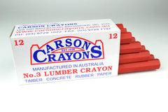 Carsons Lumber Crayons Red