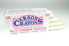 Carsons Lumber Crayons White