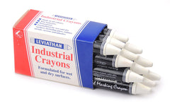 Industrial Marking Crayons Standard White Packet of 12 Crayons