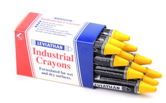 Industrial Marking Crayons Standard Yellow Packet of 12 Crayons
