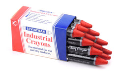 Industrial Marking Crayons Standard Red Packet of 12 Crayons