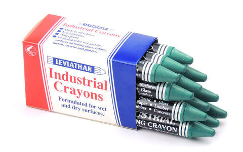 Industrial Marking Crayons Standard Green Packet of 12 Crayons