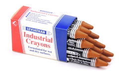 Industrial Marking Crayons Standard Brown Packet of 12 Crayons