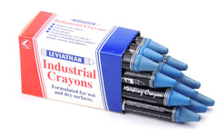 Industrial Marking Crayons Standard Blue Packet of 12 Crayons