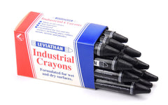 Industrial Marking Crayons Standard Black Packet of 12 Crayons