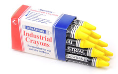 Industrial Marking Crayons Fluorescent Yellow Packets of 12 Crayons