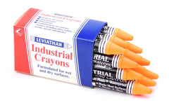 Industrial Marking Crayons Fluorescent Yellow/Orange Packets of 12 Crayons