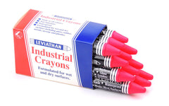 Industrial Marking Crayons Fluorescent Pink Packet of 12 Crayons