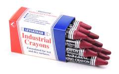 Industrial Marking Crayons Fluorescent Dark Pink Packet of 12 Crayons
