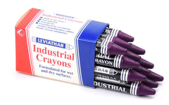 Industrial Marking Crayons Fluorescent Purple Packet of 12 Crayons