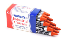 Industrial Marking Crayons Fluorescent Brown Packet of 12 Crayons