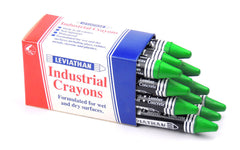 Industrial Marking Crayons Fluorescent Green Packet of 12 Crayons