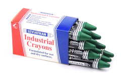 Industrial Marking Crayons Fluorescent Dark Green Packet of 12 Crayons