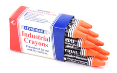 Leviathan Industrial Optimizing Crayons Orange Packet of 12
