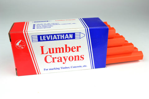 Leviathan Lumber Crayons Fluorescent Orange