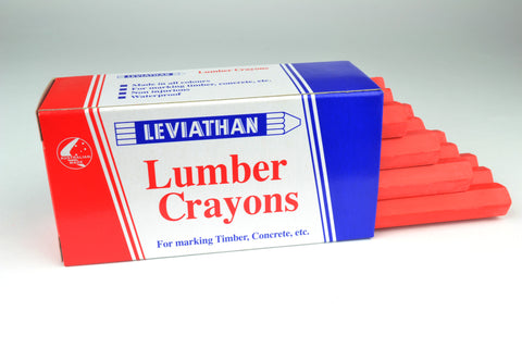 Leviathan Lumber Crayons Fluorescent Red