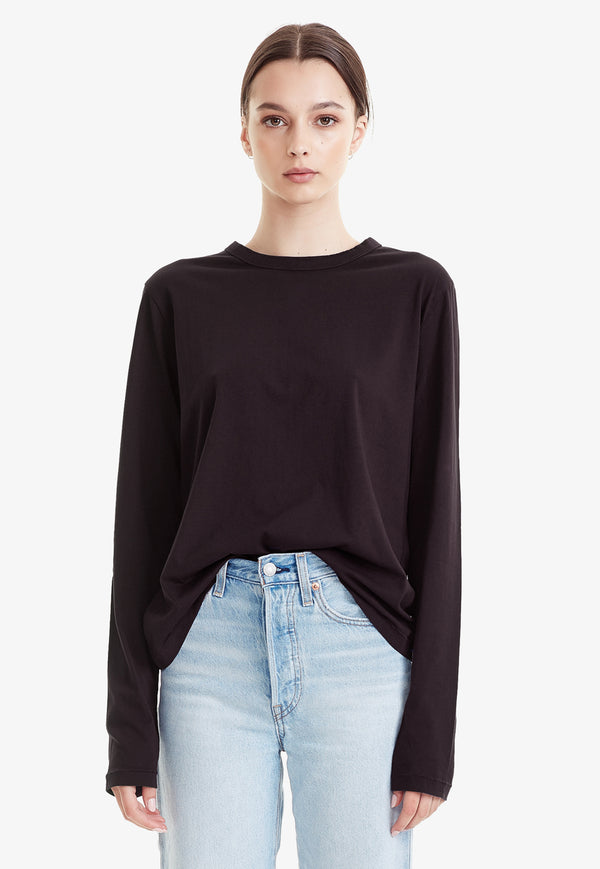 Commoners - Organic Cotton Classic Long Sleeve Tee - Black