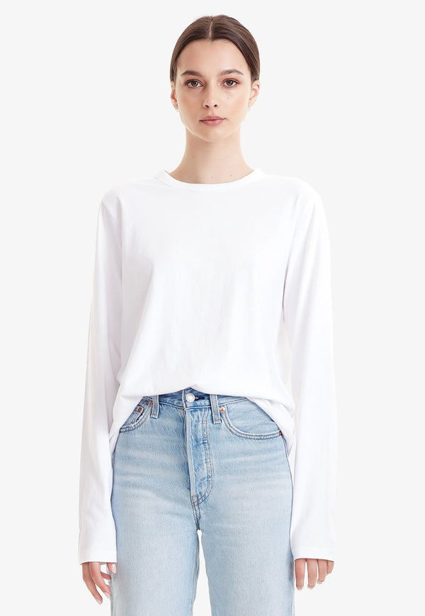 Commoners - Organic Cotton Classic Long Sleeve Tee - White