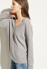Vince - Cashmere Weekend V-Neck - Heather Steel