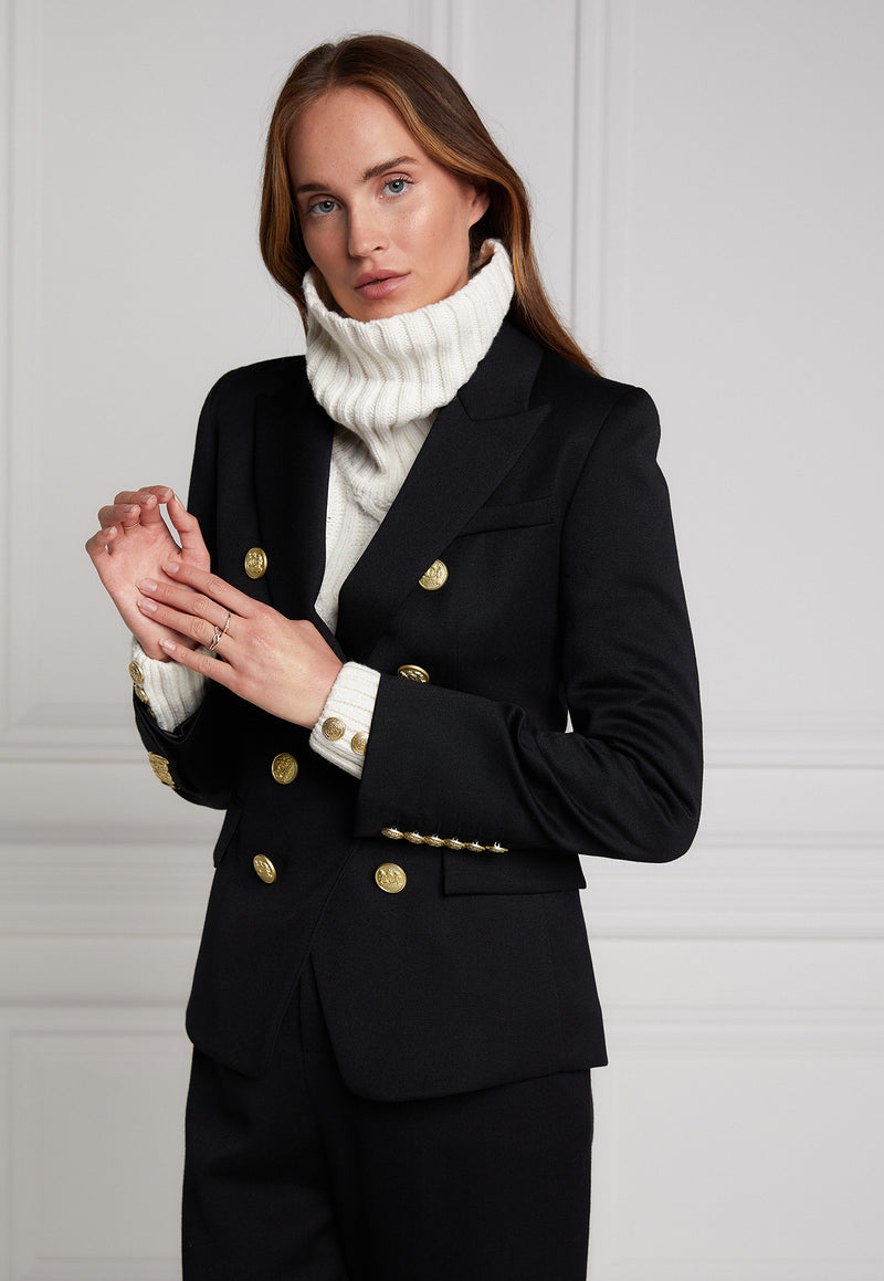 Holland Cooper - Knightsbridge Blazer - Black Barathea - angel-divine