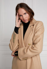 Holland Cooper - Double Breasted Coat - Camel - angel-divine