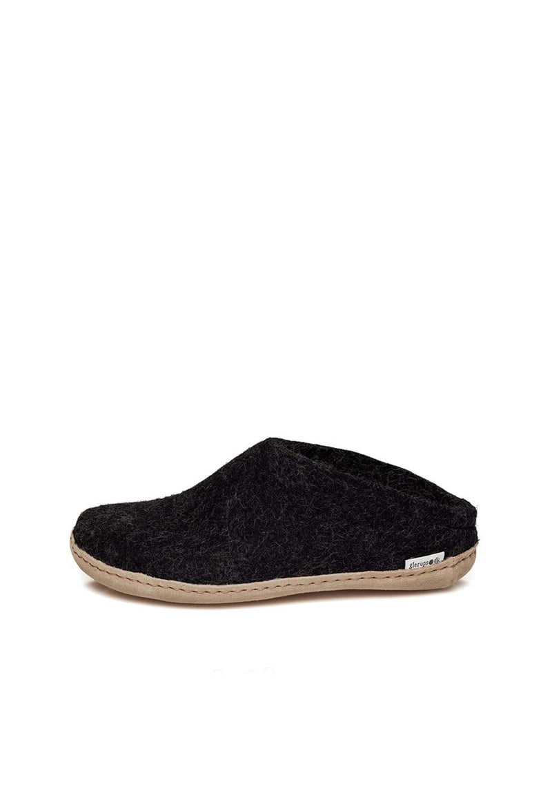 Glerups - Slip On with Leather Sole - Charcoal - angel-divine