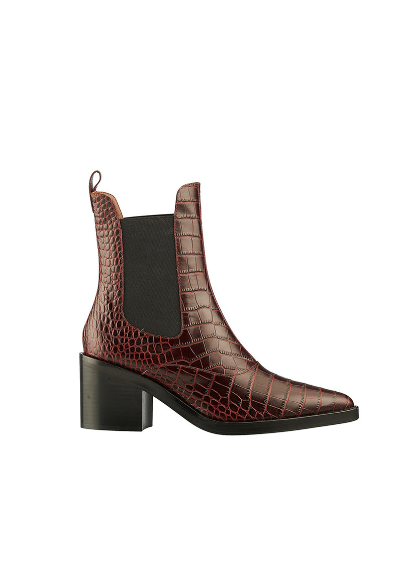 Karen Walker - NYX Chelsea Boot - Burgundy - angel-divine