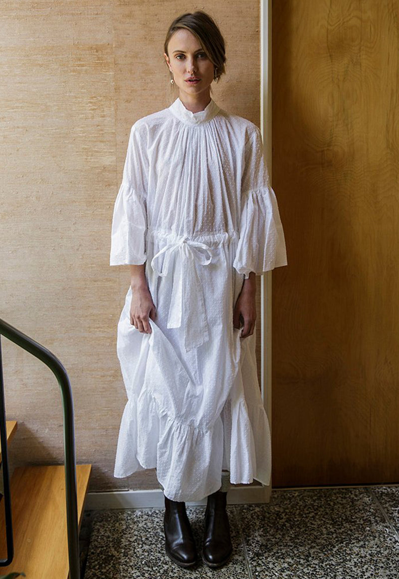 Mahsa - O'Keeffe Dress - White - angel-divine