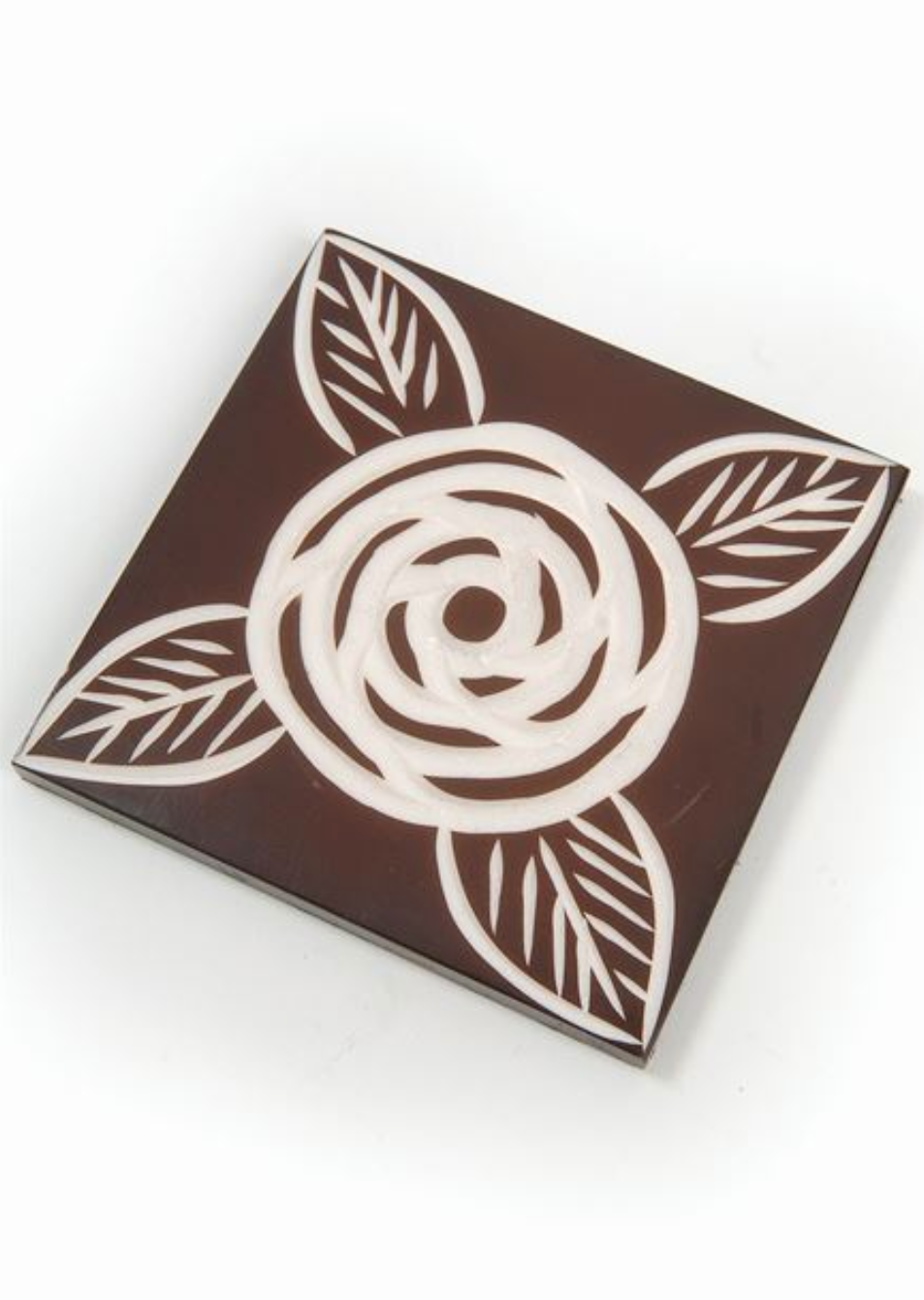 Brown Floral Coaster