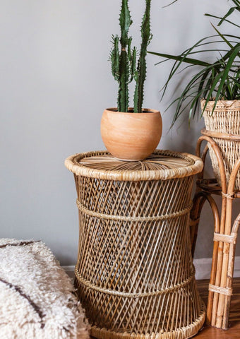 Wicker Side Table / Stand