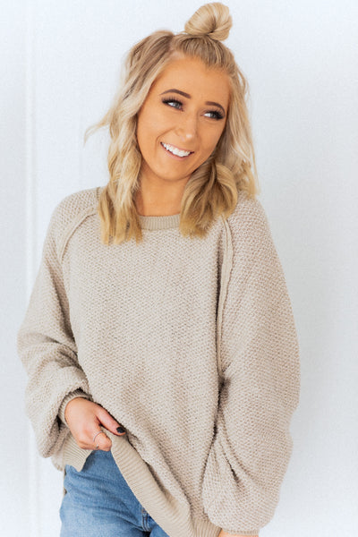 Lucille Taupe Sweater