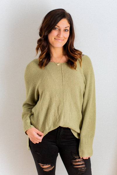 Lively Spring Green Sweater