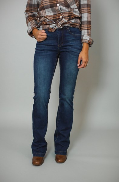 G&L Dark Wash Flare Jegging