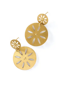 MB Chameli Earrings - Petal Coin