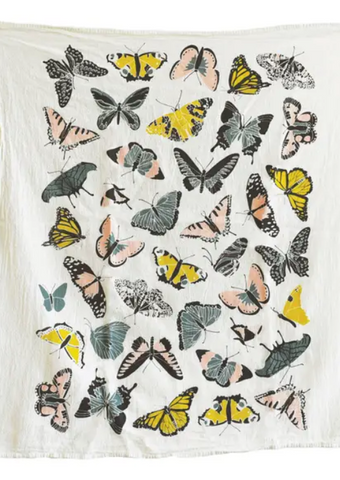 J&D TeaTowel Butterfly House