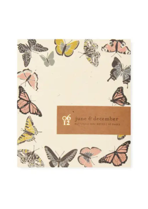 J&D Mini Notepad - Butterfly