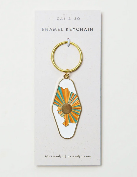 Sun & Clouds Keychain