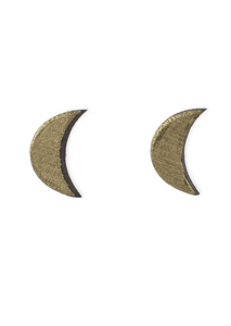 Gold Moon Earrings