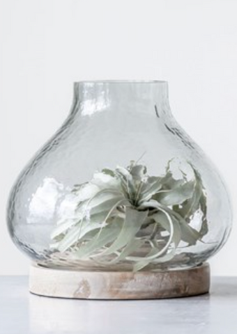 Whitewashed Glass Hurricane
