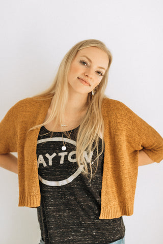 Bella Gold Crop Cardigan