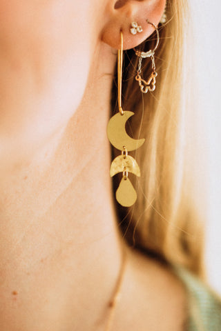 MB Rajani Earring - Gold Drop